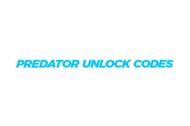 Predator Unlock Codes