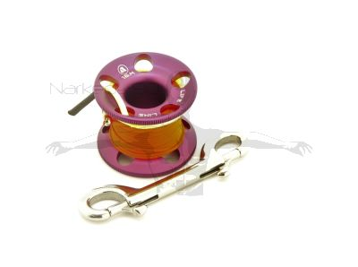 Apeks Aluminium Finger Spool with 15m Line (PURPLE)
