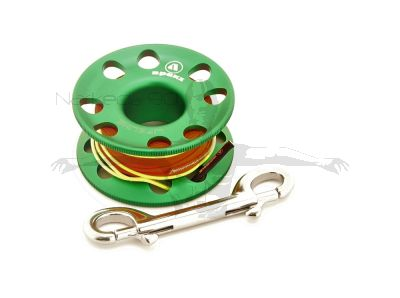 Apeks Aluminium Finger Spool with 30m Line (GREEN)