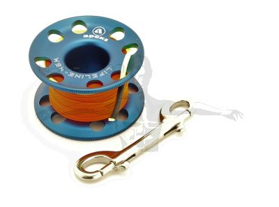 Apeks Aluminium Finger Spool with 45m Line (BLUE)