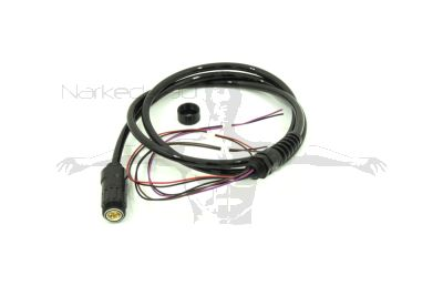 Divesoft cable, 100cm, M12 gland to bare cell wire (no Molex fitted)