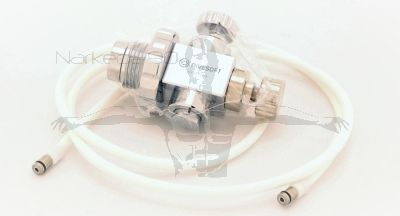 Divesoft Standard flow limiter with connection hose and flow meter