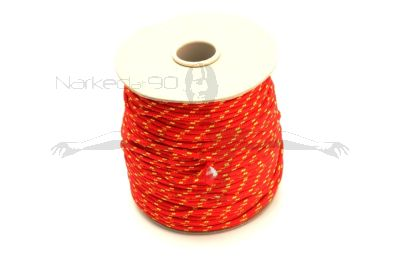 100m Coil Coloured Line Spool - Red & Yellow