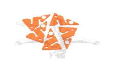 ORANGE Apeks Line Arrows with reflectors (PACK OF 5)