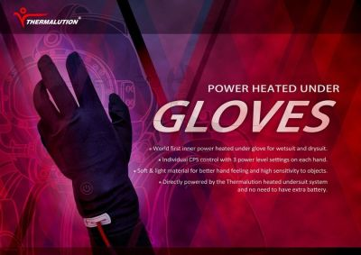 Thermalution Power Heated Gloves Set with 4.4v Batteries for Thermalution Yellow+