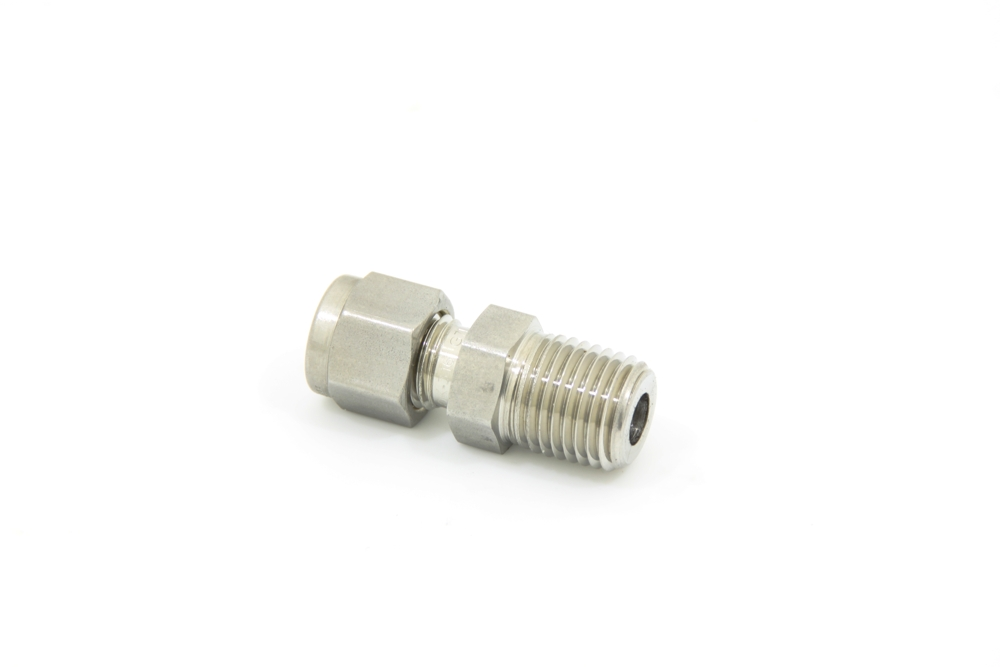 Swagelok 1/4 NPT male to 1/4 pipe or cable (316L-400-1-4)